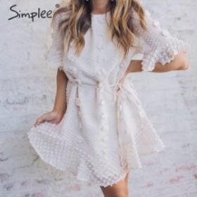 [送料無料]サマードレス 刺繍 半袖 ビーチ エレガント パーティードレス キャバドレス2019新作 夏物 トップス
