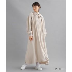 メルロー レギュラーカラーギャザーシャツワンピース1865 レディース アイボリー FREE 【merlot】