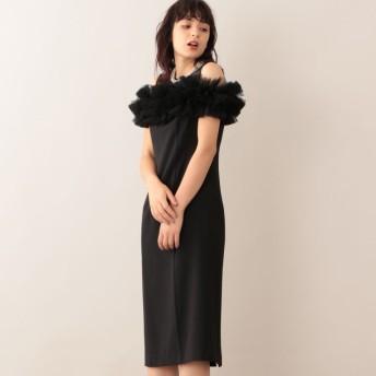 SALE【キャスト(CAST:)】 チュールコンビドレス ブラック