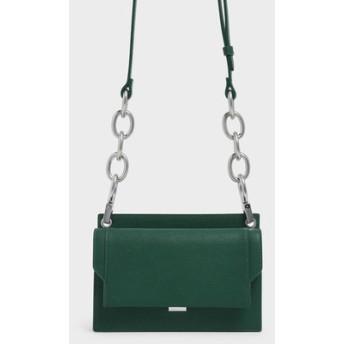 アイレットディテール プッシュロッククロスボディバッグ / Eyelet Detail Push-Lock Crossbody Bag (G
