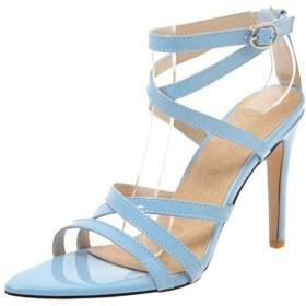 [BeiaMina] 靴 レディース ピンヒール サンダル 大きいサイズ オープントゥ サンダル 美脚 シューズ パーティー 39AS Blue