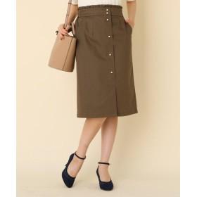 クチュールブローチ パール調タイトスカート レディース カーキ(027) 42(LL) 【Couture Brooch】