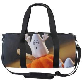 ダッフルバッグ ハロウィンかぼちゃ幽霊おもちゃ シューズ収納 ボストンバッグ 撥水ナイロン 旅行/ジム/防災