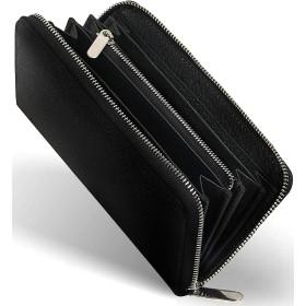 [ゲーネン] 長財布 メンズ ラウンドファスナー ブラック
