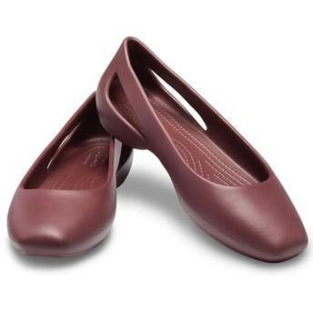 【クロックス公式】 クロックス スローン フラット ウィメン Women's Crocs Sloane Flat ウィメンズ、レディース、女性用 レッド/赤 21cm,22cm,23cm,24cm,25cm,26cm flat フラットシューズ バレエシューズ ぺたんこシューズ
