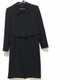 ユキトリイ YUKITORII ワンピーススーツ サイズ9 M レディース 黒【中古】20190728