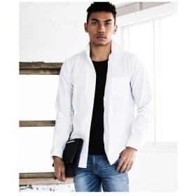【55%OFF】 メンズビギ シアサッカーイタリアンカラーシャツ メンズ ホワイト M 【Men's Bigi】 【タイムセール開催中】