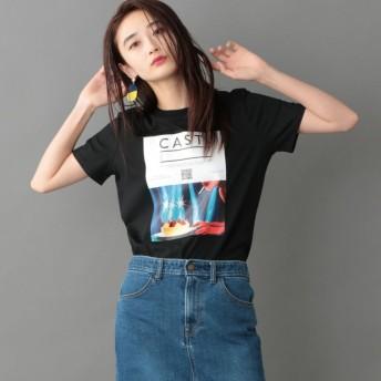 【キャスト(CAST:)】 【カットソー人気NO.1】バースデーケーキTシャツ 【FRONTプリント】 ブラック