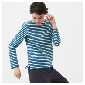 (AIGLE/エーグル)吸水速乾 バスク 長袖Tシャツ/レディース ターコイズブルー