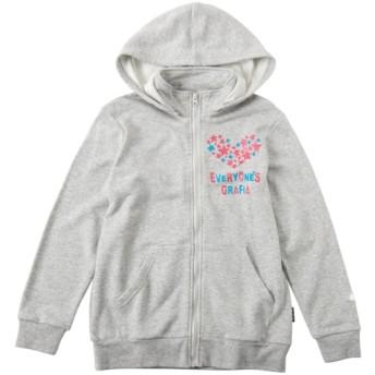 【グラフィア】裏毛パーカー(女の子 子供服 ジュニア服) ジャンパー・コート・ベスト