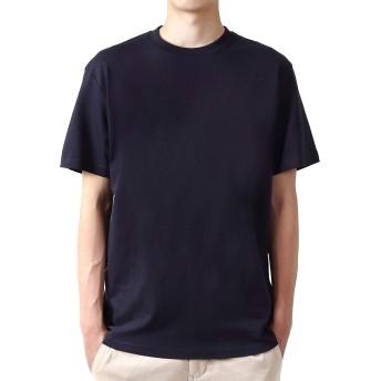 mom(マム) メンズ 服 半袖 ネイビー スポーツウエア 大きいサイズ 綿100% クルーネック 無地 5.4オンス (4.ネイビー, 3L)