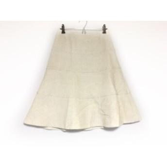 トゥービーシック TO BE CHIC スカート サイズ38 M レディース アイボリー×シルバー ラメ【中古】20190721