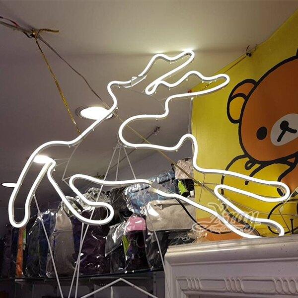 60cm柔性燈鹿(暖白),聖誕樹/LED燈/聖誕燈/裝飾燈/燈飾/造型燈/聖誕佈置,X射線【X170001】