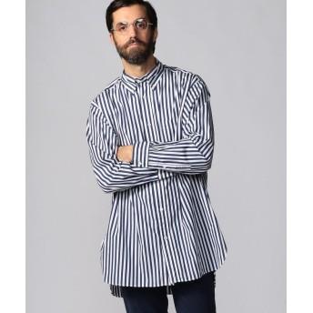 トゥモローランド ブリティッシュポプリン オーバーサイズ ボタンダウンシャツ THOMAS MASON ARCHIVE FIT メンズ 66ブルー系 S 【TOMORROWLAND】