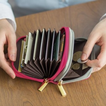 ハッピーに開こう! ダブルポケットじゃばらカード&コインケースの会 フェリシモ FELISSIMO【送料:450円+税】