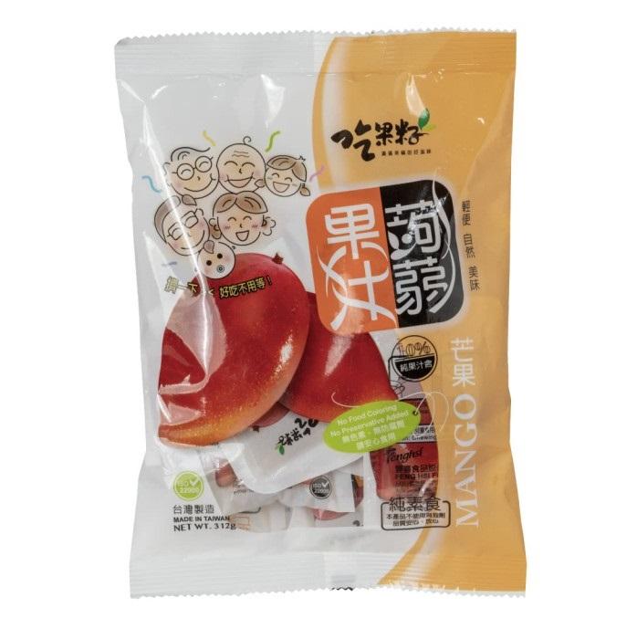 吃果籽芒果果汁蒟蒻312g