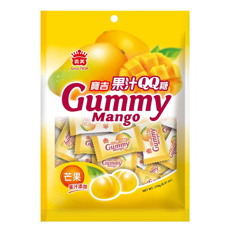 義美寶吉果汁QQ糖(芒果)-176g