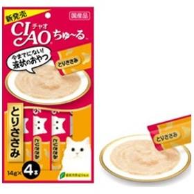 CIAO(チャオ) ちゅ~る とりささみ 14g×4本 国産 液状おやつ 猫 ちゅーる
