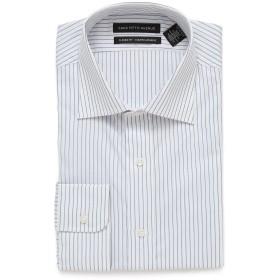 【86%OFF】CLASSIC FIT ストライプ スプレッドカラー 長袖シャツ ホワイト/ブルー 15.5/34