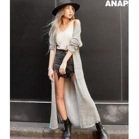 【セール開催中】ANAP(アナップ)サイドスリットニットロングカーディガン