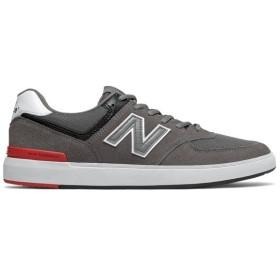 NEW BALANCE ニューバランス ヌメリック AM574GIC [サイズ:28.5cm (US10.5) Dワイズ] [カラー:グレー×ホワイト×レッド]