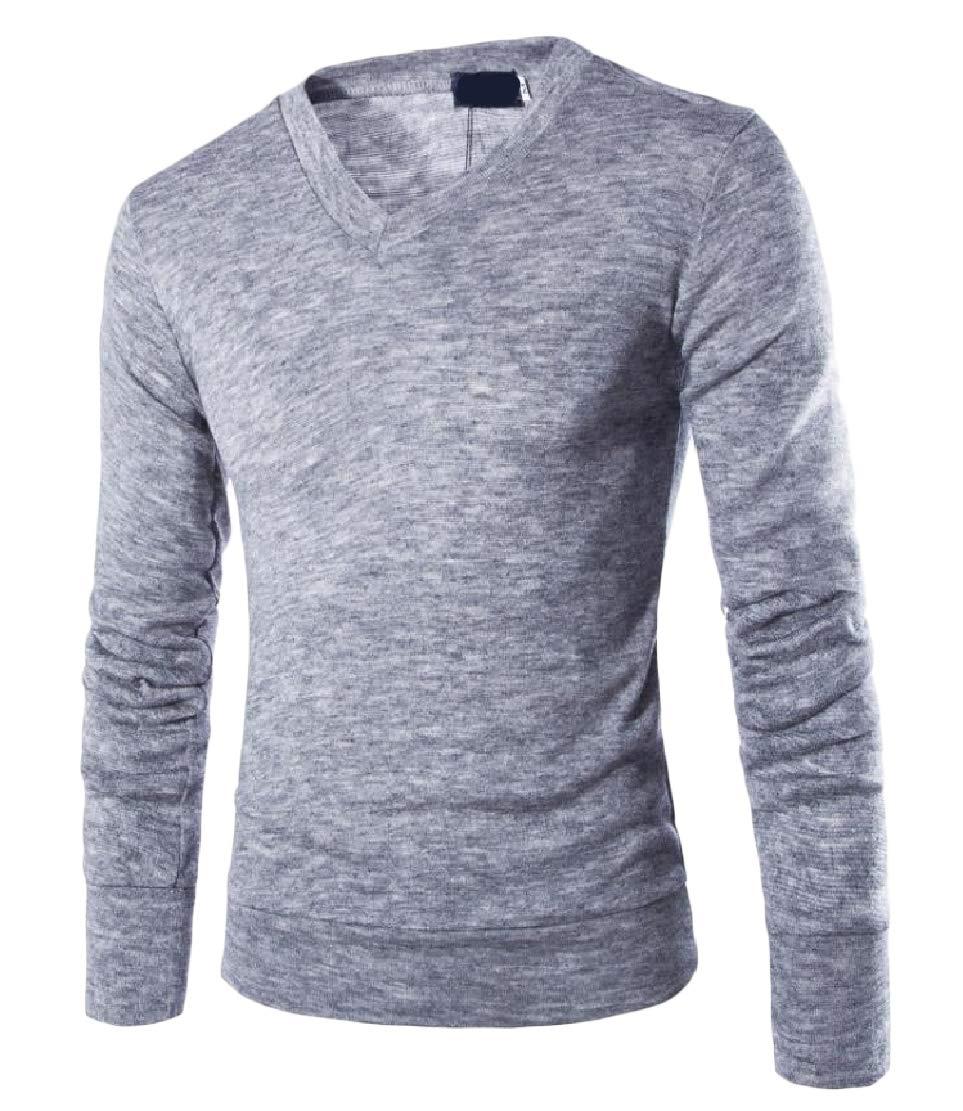 Keaac Men Top Long Sleeve Turtleneck Pullover Knit Sweater