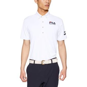 [フィラ ゴルフ] メンズ ハンソデシャツ 749682Z WT 日本 L (日本サイズL相当)
