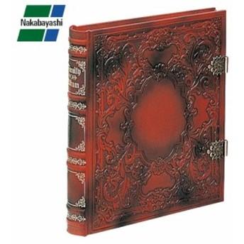 ナカバヤシ ブック式フリーアルバム バッキンガム レッド アH-GL-1501-R 大切な想い出を古きよきヨーロッパのロマンと共に