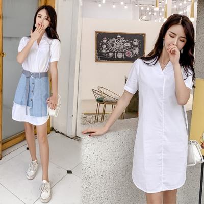 【韓國K.W.】超有型夏日風尚半身裙套裝