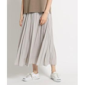 Dessin(Ladies)(デッサン(レディース)) ◆【洗える】パウダーサテンギャザーロングスカート