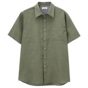 (MAC HOUSE/マックハウス)Free Nature Linen 半袖シャツ NG193-MF011/メンズ カーキ