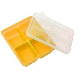 【淘氣寶寶】韓國 萱之愛 Mathos Loreley 矽膠副食品分裝盒XL 70g/4格 芥末黃