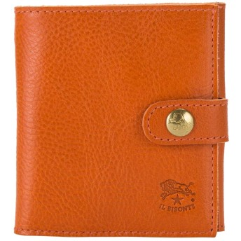 イルビゾンテ Il Bisonte 二つ折り財布 ウォレット C0955 オレンジ(166) 財布 レザー 革 [並行輸入品]