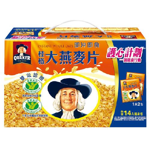 桂格即沖即食大燕麥片隨身包37.5g x14