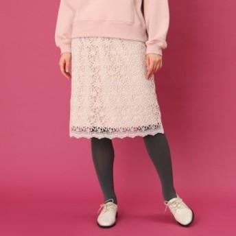 クチュールブローチ(Couture Brooch)/【WEB限定プライス手洗い可】フラワーレースタイトスカート