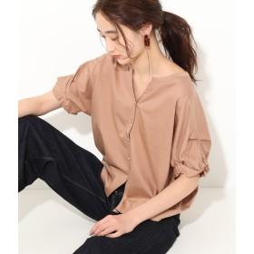 Tシャツ - ViS 【Silky smooth touch】【前後2WAY】袖ねじれプルオーバー