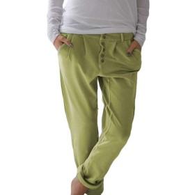 Keaac 女性カジュアルルーズharlanパンツは、ポケット付き弾性ウエスト快適な屋外ズボン 1 XL