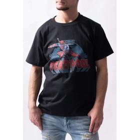 MARVEL『デッドプール』グラフィック Tシャツ(男女兼用)■マーベル グッズ 服 アパレル (M, ブラック)