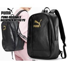 プーマ オリジナルス バックパック PUMA ORIGINALS BACKPACK RETRO PU BLACK 076651-01 リュック バック ブラック