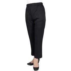 シニアファッション 70代 80代 小柄な方 ピッタリ のびのび パンツ 股下55cm 【9348】 (クロ, M)