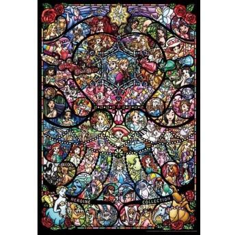 ジグソーパズル テンヨー 1000ピース ディズニー&ディズニー/ピクサー ヒロインコレクション ステンドグラス DP-1000-028   4905823860281   (tc)