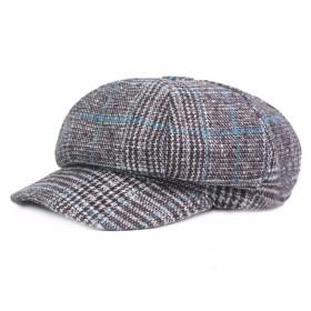 ベレー帽 メンズ ハンチング帽 春夏 通勤 無地 ベレー帽 キャップ アウトドア 通勤 無地 ハンチング フラット コットンハット 通気性 男女兼可 (B)