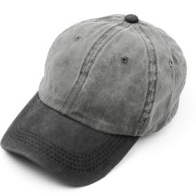 [クリサンドラ] 帽子 キャップ メンズ 無地 ローキャップ ブランド バイカラー ウォッシュ 加工 男女兼用 レディース 6パネル コットン CAP フリーサイズ カジュアル 大きいサイズ c03 08