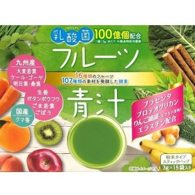 新日配 乳酸菌入りフルーツ青汁 3g×15 まとめ買い(×5)|4529052003020(tc)