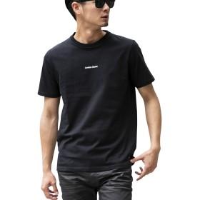 (ロンドンデニム) London Denim メンズ Tシャツ WEB限定 London Denim オリジナル 空紡糸 天竺 オリジナルロゴ プリント クルーネック 半袖 Tシャツ LD-CS-041 L ブラック