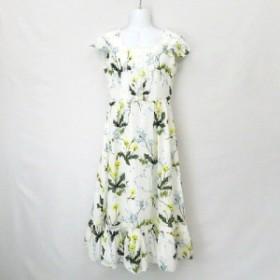 【中古】ミルク MILK 花柄フラワー フローラDress ドレス ワンピース白ホワイト レディース