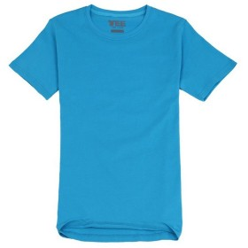 Bestgift Mens Cotton Solid Short Sleeve Soft Casual T-Shirt Lake Blue XXXL