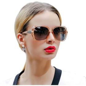 Skuokco サングラス レディース 偏光レンズ 小顔効果 サングラス 紫外線カット UV400カット 大きい レディース シェード クラシック (ブラウン)