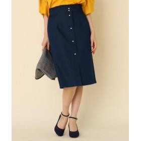 (Couture Brooch/クチュールブローチ)パール調タイトスカート/レディース ネイビー(093) 送料無料
