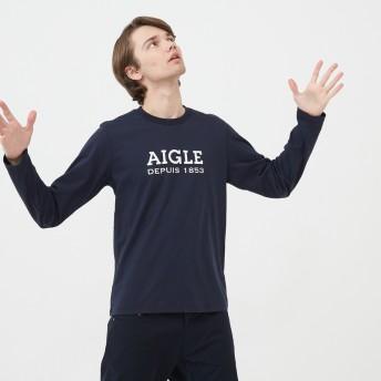 AIGLE メンズ ダークネイビー (075) シャツ・ポロシャツ